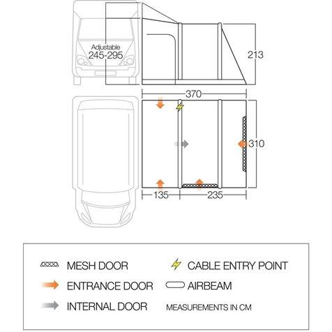 additional image for Vango Kela V Tall Air Driveaway Awning - 2020 Model
