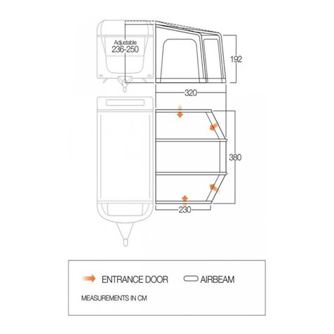 additional image for Vango Tuscany 380 Caravan Air Awning - New For 2020