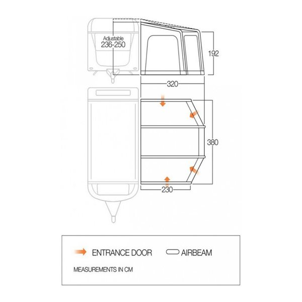 additional image for Vango Tuscany 380 Caravan Air Awning - 2021 Model
