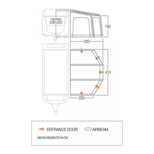 additional image for Vango Tuscany 420 Caravan Air Awning - 2021 Model