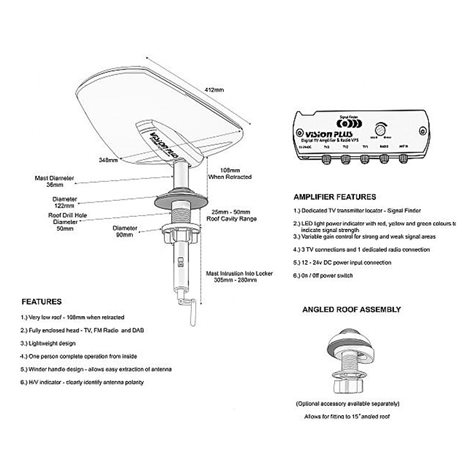 additional image for Vision Plus Status 570 Directional TV / Radio Antenna System