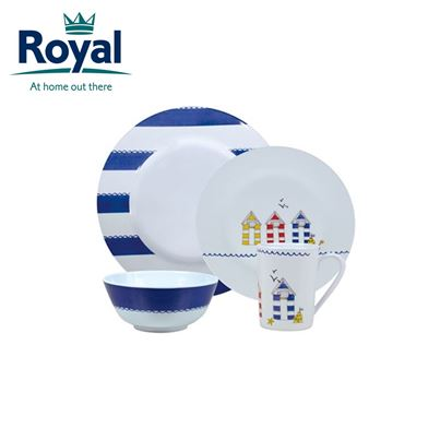 Royal Royal Seashore Premium 16 Piece Melamine Set
