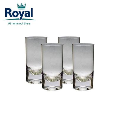 Royal Royal Pack of 4 Clear Acrylic Tumblers