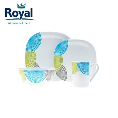 Royal Royal Dotty Premium 16 Piece Melamine Set