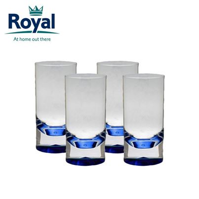 Royal Royal Pack of 4 Clear Blue Acrylic Tumblers