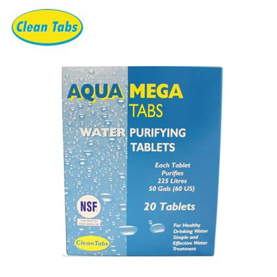 Clean Tabs Aqua Mega Water Purifying Tablets