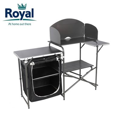 Royal Royal Aluminium Kitchen Stand with Windshield & Larder