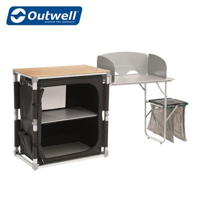 Outwell Outwell Padres Kitchen Table With Side Unit - 2021 Model