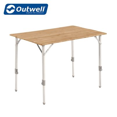 Outwell Outwell Custer Bamboo Table Medium - New For 2021