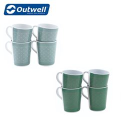 Outwell Blossom 4 Piece Mug Set