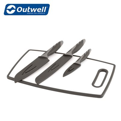 Outwell Outwell Caldas Knife Set With Cutting Board