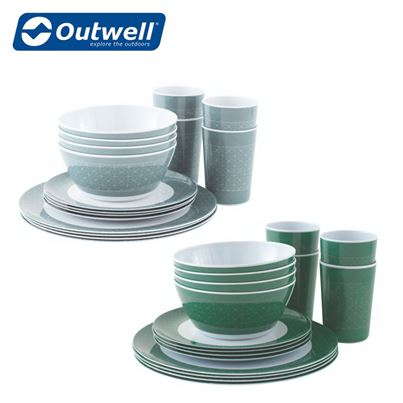 Outwell Outwell Blossom Melamine 4 Person Family Picnic Set