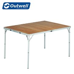 Outwell Calgary Bamboo Table Various Sizes