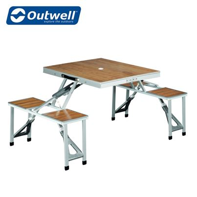Outwell Outwell Dawson Bamboo Picnic Table - 2021 Model