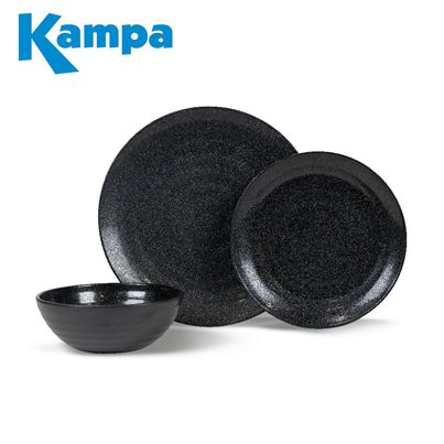 Kampa Kampa Ebony Cobble 12 Piece Melamine Set