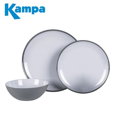 Kampa Kampa Fog Grey 12 Piece Melamine Set - New For 2021