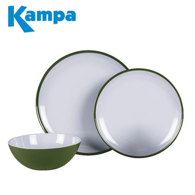 Kampa Kampa Fern Green 12 Piece Melamine Set - New For 2021