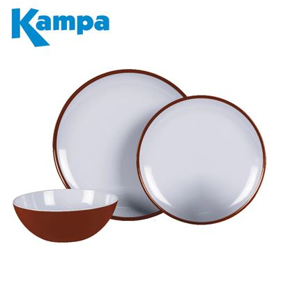 Kampa Kampa Ember Red 12 Piece Melamine Set - New For 2021