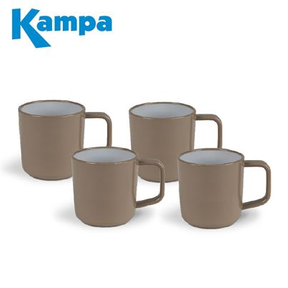 Kampa Kampa Coffee 4 Piece Melamine Mug Set