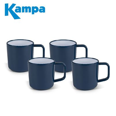 Kampa Kampa Midnight Blue 4 Piece Melamine Mug Set