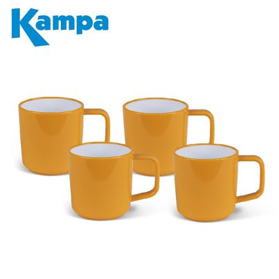 Kampa Kampa Sunset Yellow 4 Piece Melamine Mug Set