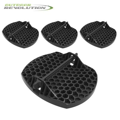 Streetwize Outdoor Revolution Caravan Jack Pad Feet (Set of 4)