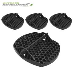 Outdoor Revolution Caravan Jack Pad Feet (Set of 4)