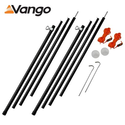 Vango Vango Adjustable Steel King Poles 180-220cm