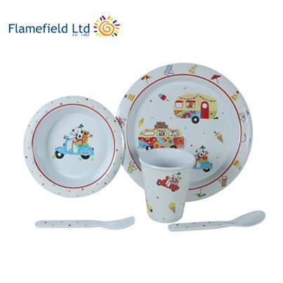 Flamefield Sparky and Friends 5 Piece Children's Melamine Dining Set