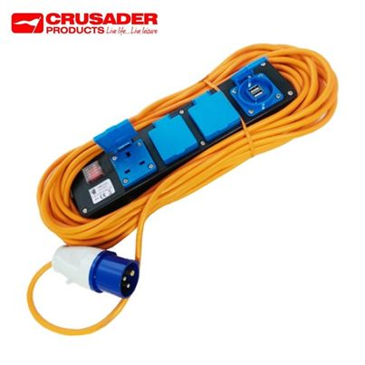 Crusader 5 Way 240V Mobile Mains Unit With 2 x USB's