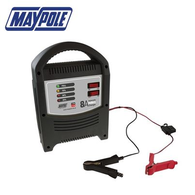 Maypole Maypole 8 Amp LED Battery Charger