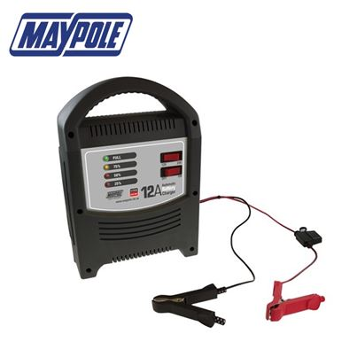 Maypole Maypole 12A LED Battery Charger - New for 2018