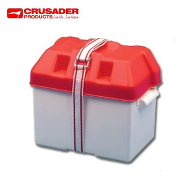 Crusader Caravan 85amp Leisure Battery Holding Box Red