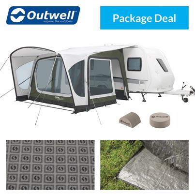 Outwell Outwell Amber 350SA Caravan Awning Package Deal
