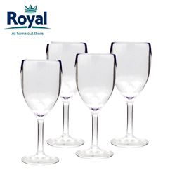 Royal Pack of 4 Clear Acrylic Wine Glasses