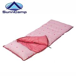 SunnCamp Pink Dotty Junior Sleeping Bag