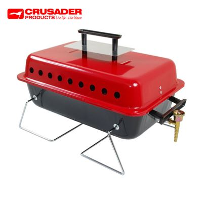 Crusader Table Top Portable Gas Barbeque Barbecue BBQ Cooker Stove Grill
