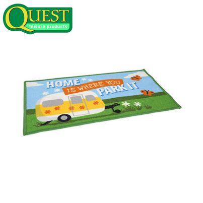 Quest Washable Home Is Where You Park It Entrance Mat