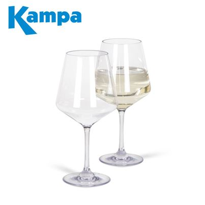 Kampa Dometic Kampa Pack of 2 Soho Polycarbonate White Wine Glasses
