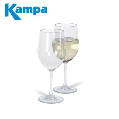 Kampa Dometic Kampa Pack of 2 Noble Polycarbonate White Wine Glasses