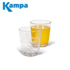 Kampa Pack Of 4 Stackable Tumbler Polycarbonate Glasses