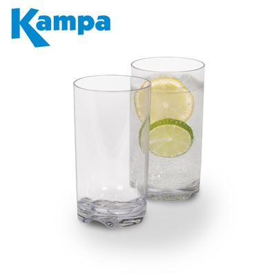 Kampa Dometic Kampa Pack Of 4 Tall Tumbler Polycarbonate Glasses