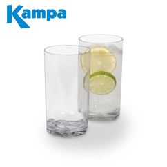 Kampa Pack Of 4 Tall Tumbler Polycarbonate Glasses