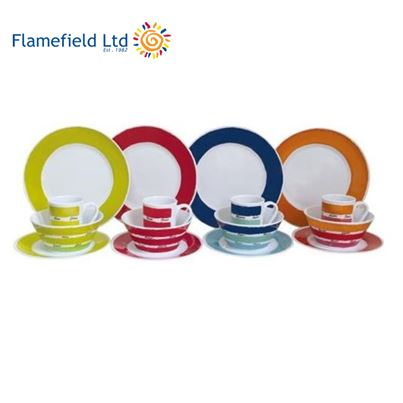 Flamefield Flamefield Melamine Dinner Set 16 Piece Multicoloured