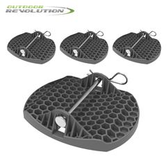 Outdoor Revolution Deluxe Caravan Jack Pads (Set of 4)
