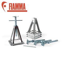 Fiamma Grey Aluminium Jack Stand Set