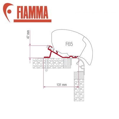Fiamma Fiamma F65 Awning Adapter Kit - Bailey