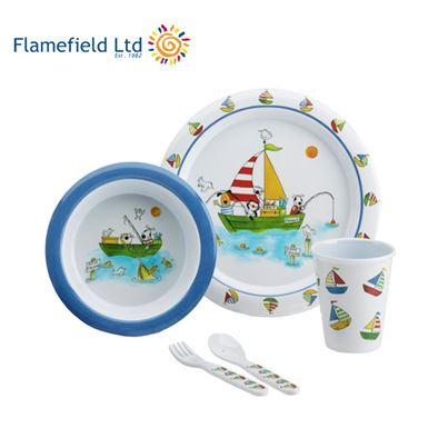 Flamefield Freddie and Friends 5 Piece Children's Melamine Dining Set