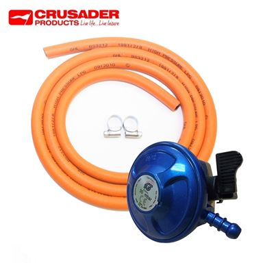 Crusader 21mm Clip-On Butane Regulator Gas Kit