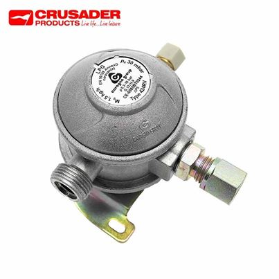 Crusader Euro Caravan Regulator 90 Deg Outlet